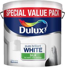 Dulux Pure Brilliant White Silk Emulsion - Walls & Ceilings Paint 6L