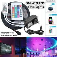 10M 5M Smart WiFi RGB LED Strip Light Full Kit Waterproof for Alexa