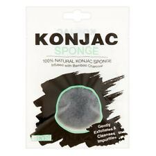 100% Natural Konjac Exfoliating Sponge Bamboo activated Charcoal FACIAL scrub