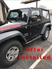 "2007-2016 Jeep WRANGLER Chrome Wheel Skins Hubcaps Covers for 16"" Steel Wheels"