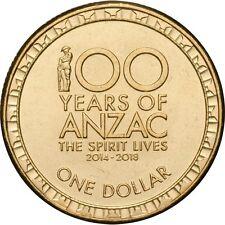 "2017 Australia "" 100 Years of ANZAC "" Centenary $1 One Dollar Coin"