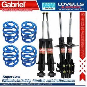 F + R Super Low Gabriel Ultra Shocks + Coil Springs For Holden Statesman WM