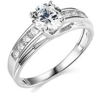 2.30 Ct Round Brilliant Cut Engagement Wedding Ring Trellis Real 14K White Gold