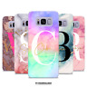 PERSONALISED MARBLE RAINBOW SOFT CASE COVER FOR SAMSUNG GALAXY S7 S8 S9 S10 PLUS