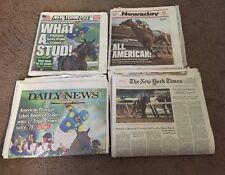 American Pharoah, Triple Crown Winner,Times,Post,Newsday,Daily News,June 7, 2015