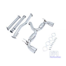 "Manzo 4"" Dual Stainless Tips Catback Exhaust for Evolution Evo X 10 08-15 CZ4A"