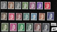 MH stamp set / 20 all different Adolph Hitler Third Reich WWII Germany 1941-1944