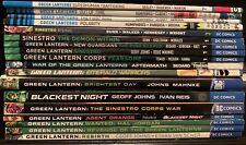 Green Lantern TPB lot Geoff Johns, Rebirth, Emerald Warriors, Aftermath,Sinestro