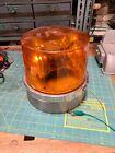 Vintage Signal Stat Rotating Beacon Amber Dome 2-Bulb SAE-W3-80 12V USA 77-234