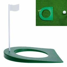 Golf Putting Green Regulation Cup Hole Flag Indoor Practice Training Aids