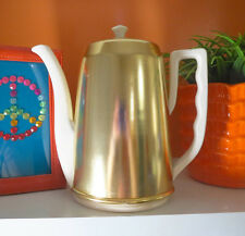 VTG 1950s MID Century Modern Lipper & Mann Ceramic Tea Coffee Pot Cozy Metal