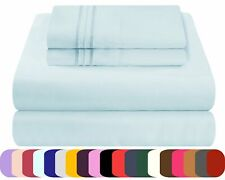 Mezzati Waterbed Sheets Set Soft and Comfortable Brushed Microfiber Bedding