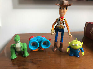 Toy Story figures Burger King 90s Lenny Rex BONUS Quickdraw Woody & Alien!
