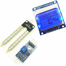 Soil Moisture Meter LCD5110 Display Module Humidity Sensor Test Kit for Arduino