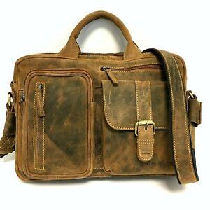 Greenburry Leder Umhängetasche Damen Handtasche Businesstasche 1641-25