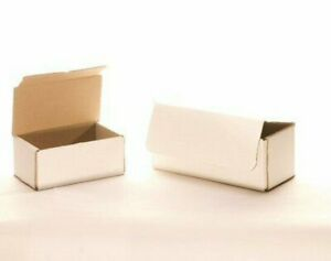 50 6 x 3 x 3 White Corrugated Mailers Die Cut Tuck Flap Boxes Free Shipping