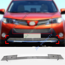 Chrome Front Bumper Lower Grille Vent Hood Grill For TOYOTA RAV4 2013-15