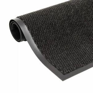 vidaXL Paillasson Rectangulaire 120x180 cm Noir Tapis Essuie-pieds Carpette