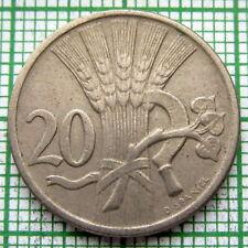 CZECHOSLOVAKIA 1921 20 HALERU, SHEAF WITH SICKLE