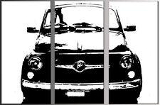 QUADRO FIAT 500 POP ART DIPINTO A MANO arredo moderno PAINTING