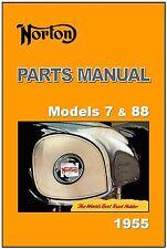 NORTON Parts Manual Model 7 Dominator & 88 De Luxe Twin 1955 spares Catalog List