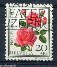SUISSE 1972, timbre 915, FLEURS, ROSES, FLORE, FLOWERS, oblitéré