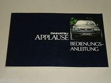 Betriebsanleitung Daihatsu Applause Stand 10/1992