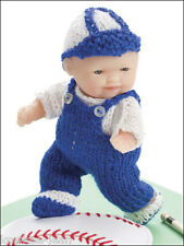 "Itty Bitty Knitties: 5"" baby Doll Clothes 11 PATTERNS: baseball, christening..."