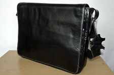 Office, Laptop, Messenger, Satchel Classic Business Smart Real Black Leather Bag