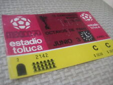 WOW VERY RARE SOCCER WORLD CUP TICKET MEXICO 1970 ITALY VS SWEDEN ORIGINAL