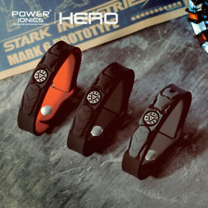 Power Ionics NEW HERO IRONMAN 3000ions/cc Tourmaline Titanium Bracelet Wristband