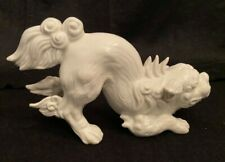 FITZ AND FLOYD PORCELAIN FOO DOG HOLLYWOOD REGENCY WHITE ASIAN CHINESE NUMBERED