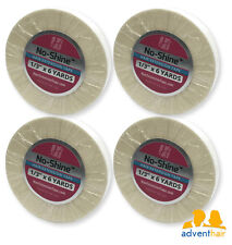 """WALKER No Shine Hair Extension Tape Roll 1/3"""" x 6 yards wig hairpiece - 4 rolls"""