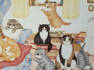 LINDA JANE SMITH Kittens Katzen 1987 The Jones  Lithograph Signiert NEU