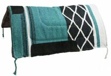 "30""x30"" TEAL Western Saddle Pad w/ Felt Bottom & Suede Wear Leathers! NEW TACK!!"