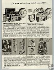 1959 PAPER AD New Model Rolleiflex 4X4 Mini Camera Minox Argus Kodak Signet Pony