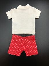 Vntg 1961 Ken Doll Clothes - IN TRAINING #780 Red Polka Dot Shorts White T-shirt