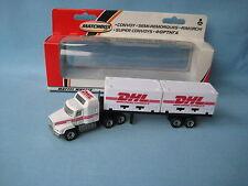 Matchbox convoy mack container truck dhl courier livrée jouet modèle 165mm boxed