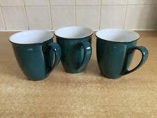 Denby Greenwich - 3 x Beaker Coffee / Tea Mugs