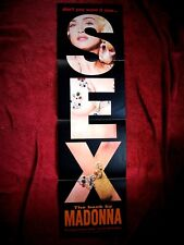 Madonna HOT Sex Book LONG   S E X   Erotica Warner Promo Poster Advertising Shop