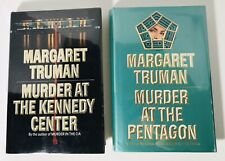 Lot of 2 MARGARET TRUMAN Murder Crimes Mystery Thriller Hardcover First Editions