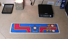 MS PAC MAN upright video arcade game control panel overlay CPO Namco PACMAN