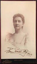 Emma EAMES (Opera): Signed Jumbo Cabinet Photograph