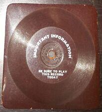 RARE 4 inches 78 rpm RECORD Durium Flexible PUBLICITY American TALKING