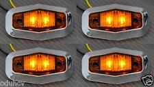 4x LED Côté ORANGE FEUX DE POSITION camion utilitaire bus renault iveco chrome
