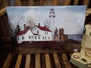 """Whitefish Point by Billy Jacobs, Canvas Picture, 12""""x18"""", Ocean Lighthouse"""