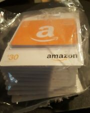 (10PKS) $30 AMAZON GIFT CARD MULTI PACKS 3X$10EA PER PACK, NOT LOADED,$0 BALANCE