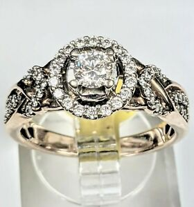 💎 CHRISTMAS SALE💎 ESTATE ZALES 3/4 CARAT DIAMOND RING 14K SOLID ROSE GOLD