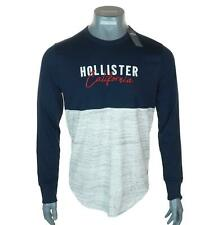 New Men's Authentic Hollister Long Sleeve Embroidered Logo T Shirt Medium