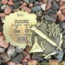 "GeO - Chemistry of Geocaching Geomedal Geocoin (1.75"", Antique Finish)"